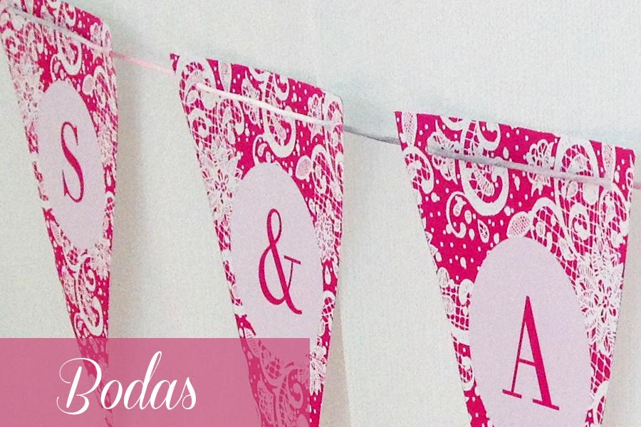 Banderines boda S&A